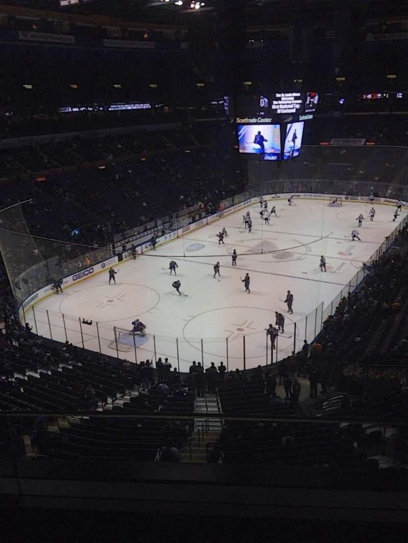 Seating view for Scottrade Center Section 326 Row B Seat 7