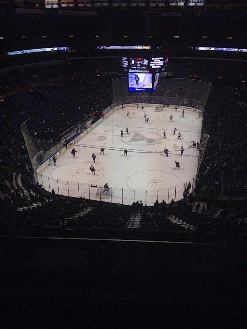 Seating view for Scottrade Center Section 327 Row K Seat 9