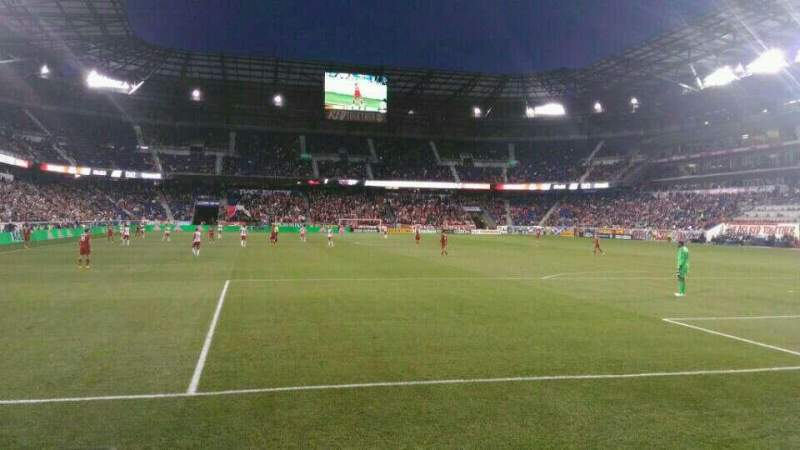 Seating view for Red Bull Arena (New Jersey) Section 119 Row 2 Seat 21