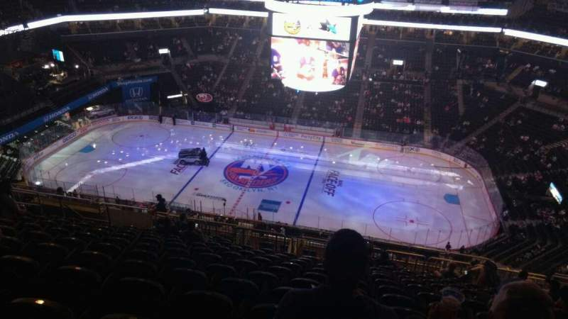 Seating view for Barclays Center Section 223 Row 17 Seat 11