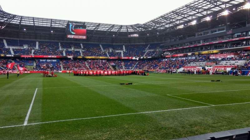 Seating view for Red Bull Arena Section 119 Row 2 Seat 21