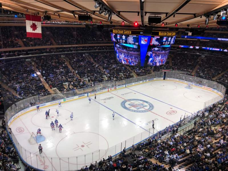 Seating view for Madison Square Garden Section 310 Row 1 Seat 1