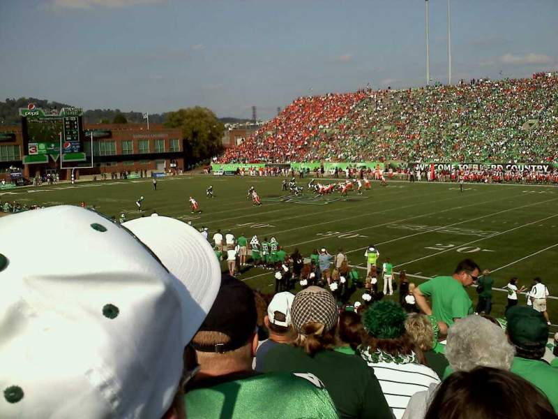 Seating view for Joan C. Edwards Stadium Section 124 Row 21 Seat 102