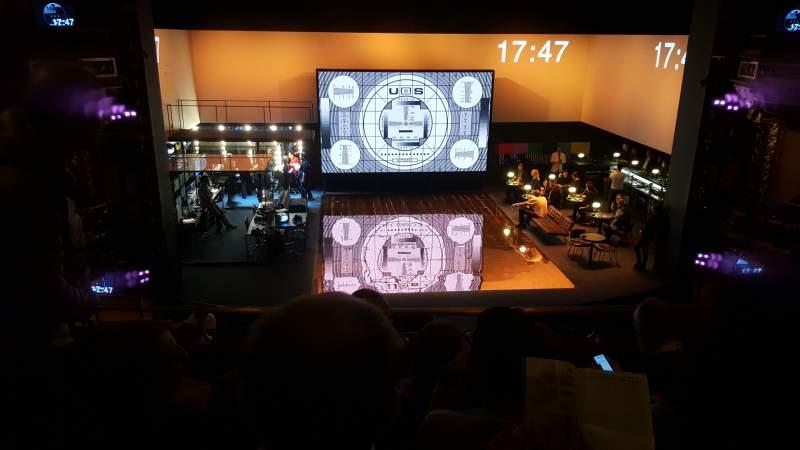 Seating view for Belasco Theatre Section Mezzanine C Row E Seat 103