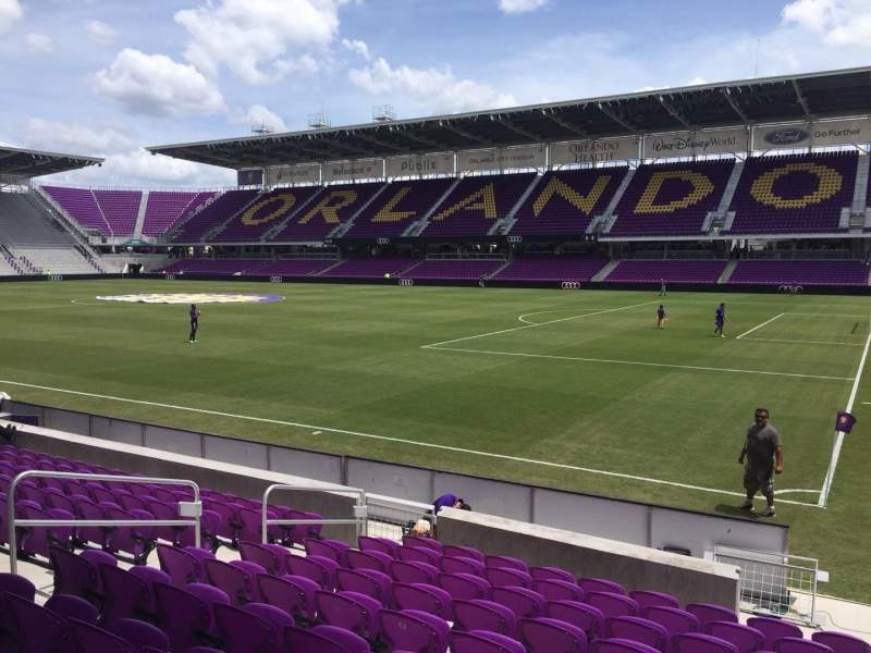 Seating view for Orlando City Stadium Section 10 Row K Seat 1