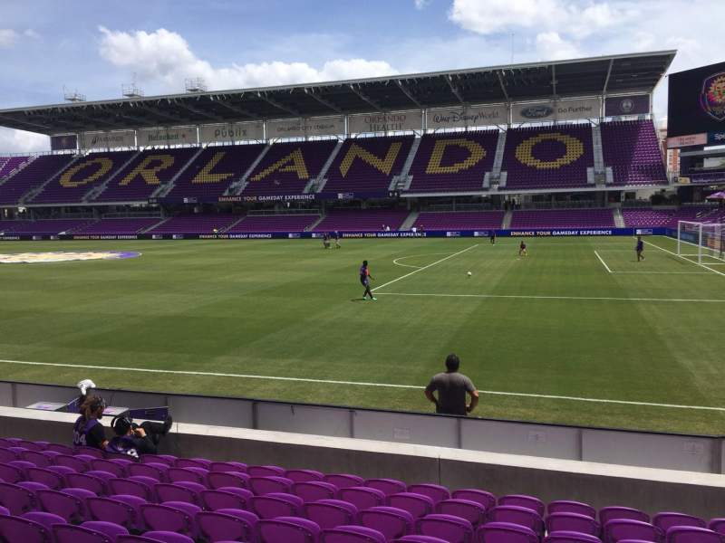 Seating view for Exploria Stadium Section 11 Row J Seat 7