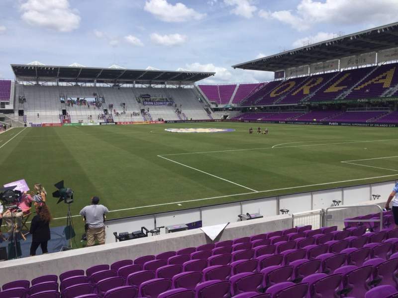 Seating view for Exploria Stadium Section 6 Row J Seat 13