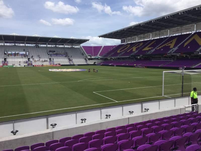 Seating view for Exploria Stadium Section 5 Row K Seat 18