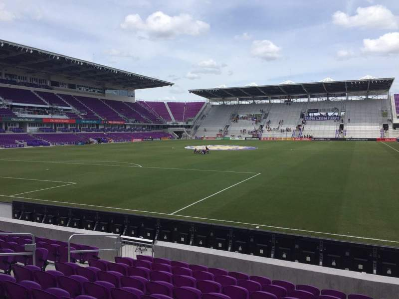 Seating view for Orlando City Stadium Section 2 Row K Seat 12