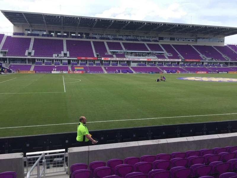 Seating view for Orlando City Stadium Section 36 Row H Seat 26