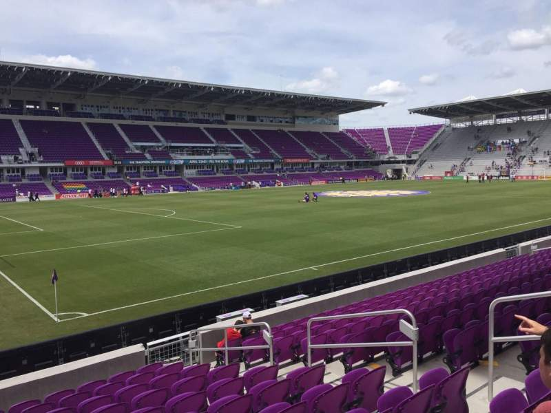 Orlando City Stadium, section: 1, row: L, seat: 7