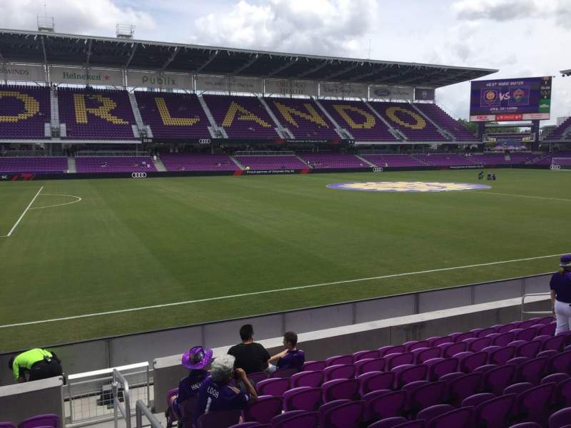 Seating view for Exploria Stadium Section 19 Row J Seat 1
