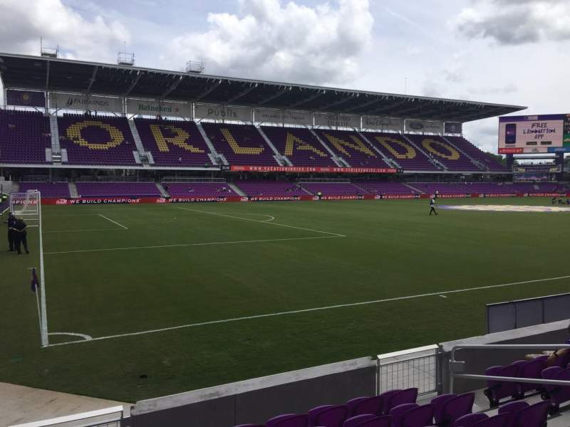 Seating view for Orlando City Stadium Section 20 Row G Seat 10