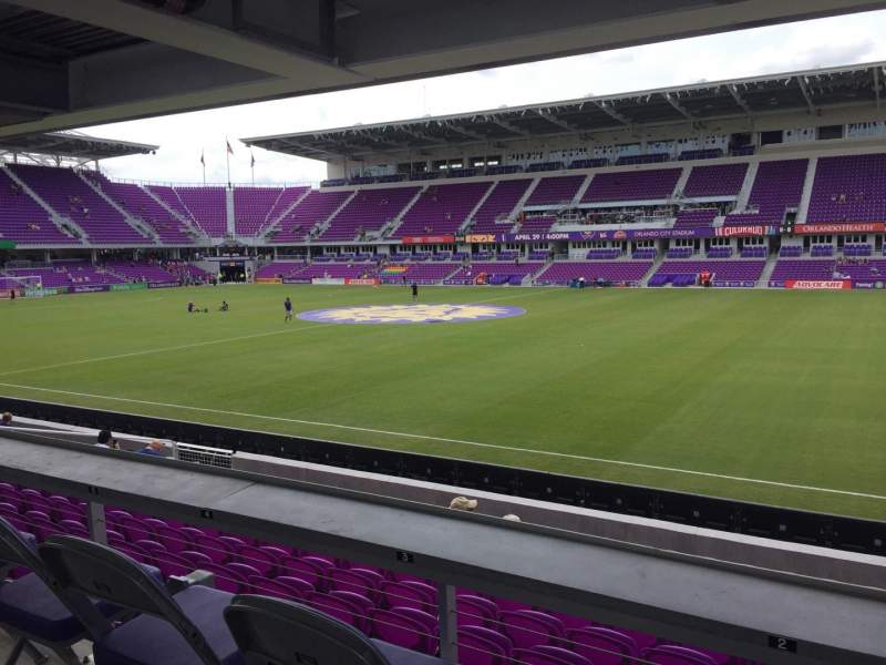 Seating view for Exploria Stadium Section 32 Row M Seat 02