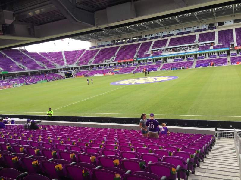 Orlando City Stadium, section: 33, row: P, seat: 1