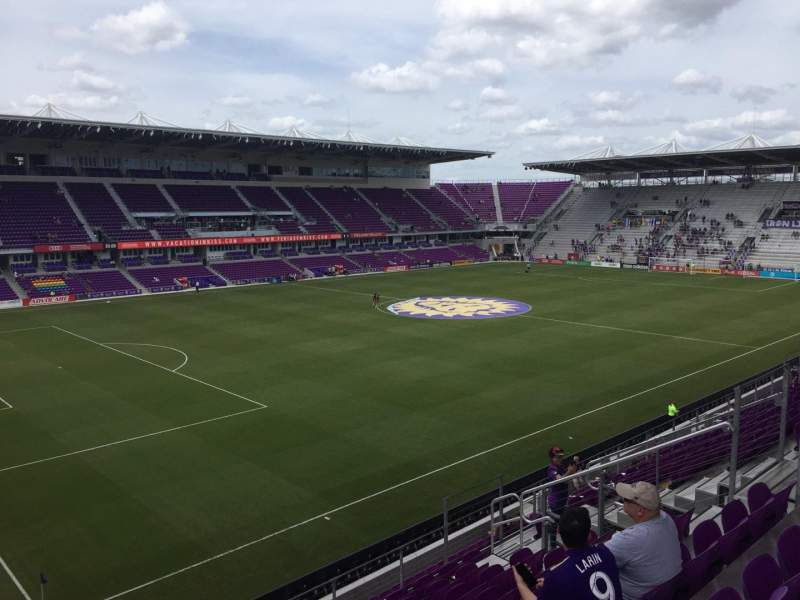 Seating view for Exploria Stadium Section 138 Row H Seat 14