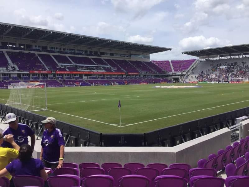 Orlando City Stadium, section: 1, row: G, seat: 18