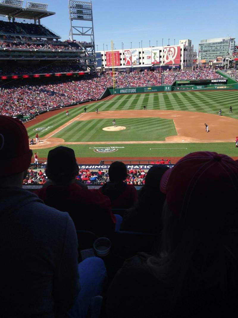 Seating view for Nationals Park Section 219 Row D Seat 15