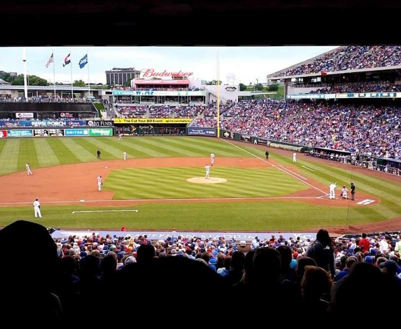 Seating view for Kauffman Stadium Section 221 Row SS Seat 23