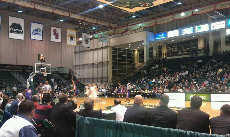 Seating view for Binghamton University Events Center Section 103 Row B Seat 8