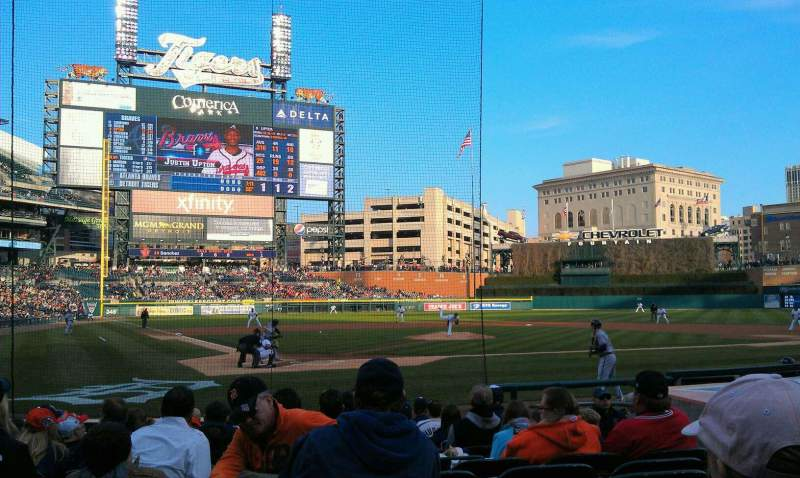 Seating view for Comerica Park Section 125 Row 14 Seat 6