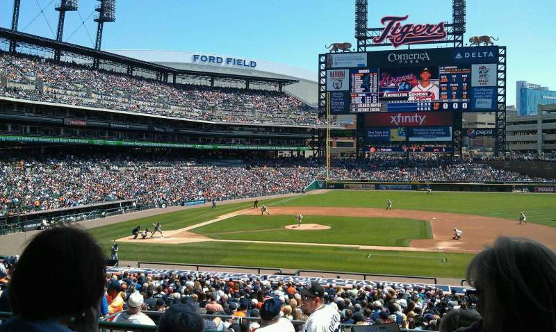 Seating view for Comerica Park Section 121A Row C Seat 1