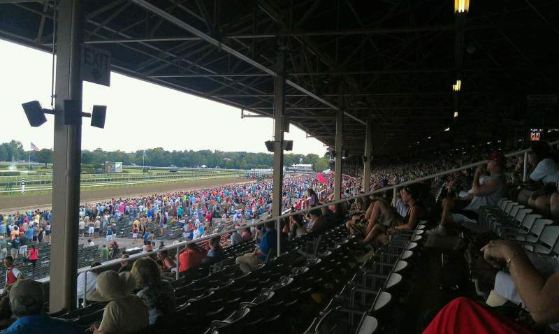 Seating view for Saratoga Race Course Section X Row P Seat 18