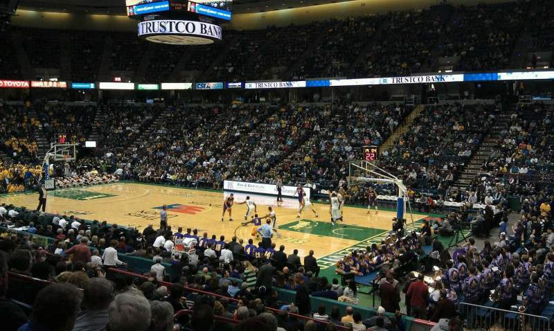 Seating view for Times Union Center Section 102 Row N Seat 6