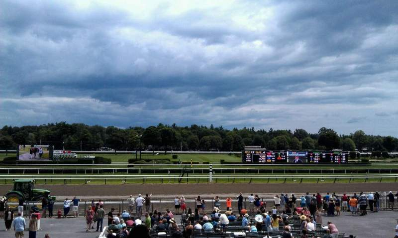 Seating view for Saratoga Race Course Section P Row L Seat 20