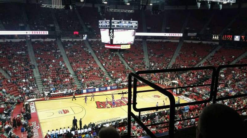 Seating view for Thomas & Mack Center Section 229 Row c Seat 6