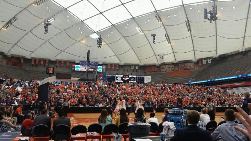 Seating view for Carrier Dome Section 109 Row CC Seat 14
