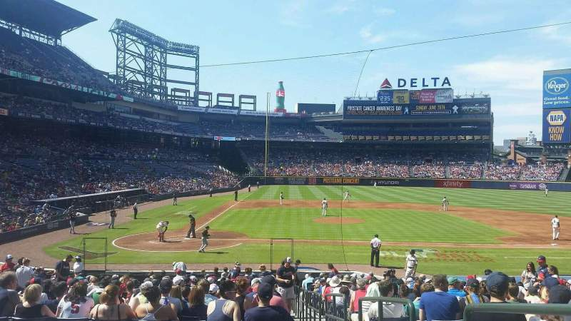 Seating view for Turner Field Section 107L Row 24 Seat 101