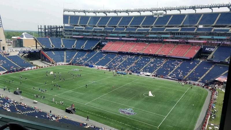 Seating view for Gillette Stadium Section Suite B64
