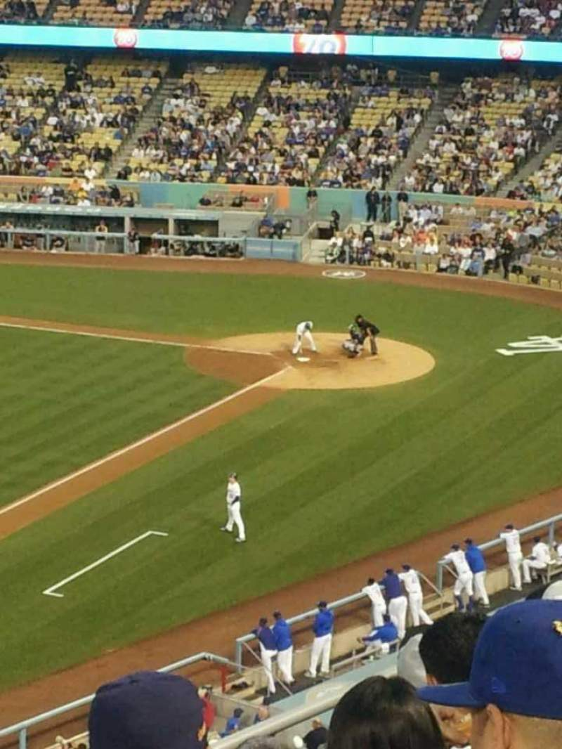 Seating view for Dodger Stadium Section 35RS Row F Seat 22