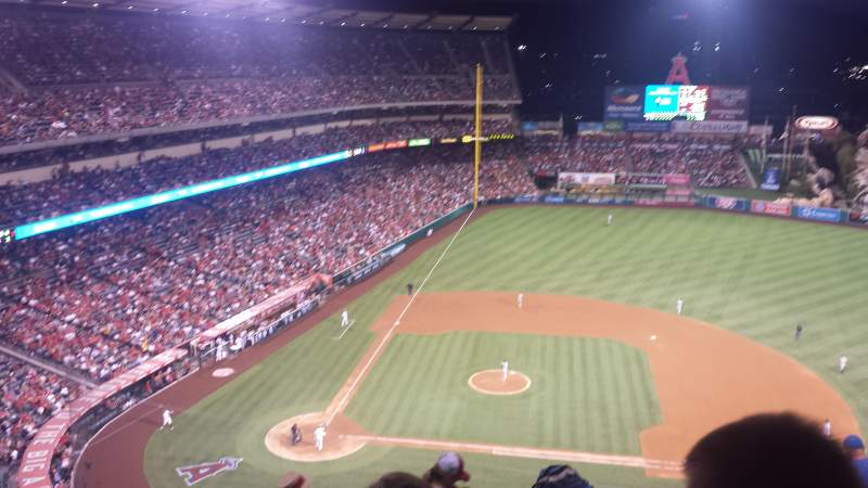 Seating view for Angel Stadium Section 527 Row F Seat 1