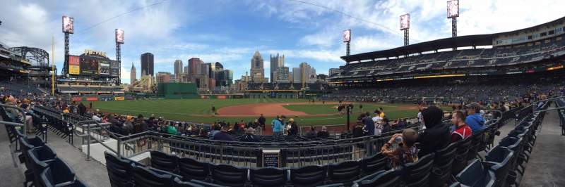 Seating view for PNC Park Section 124 Row D Seat 11