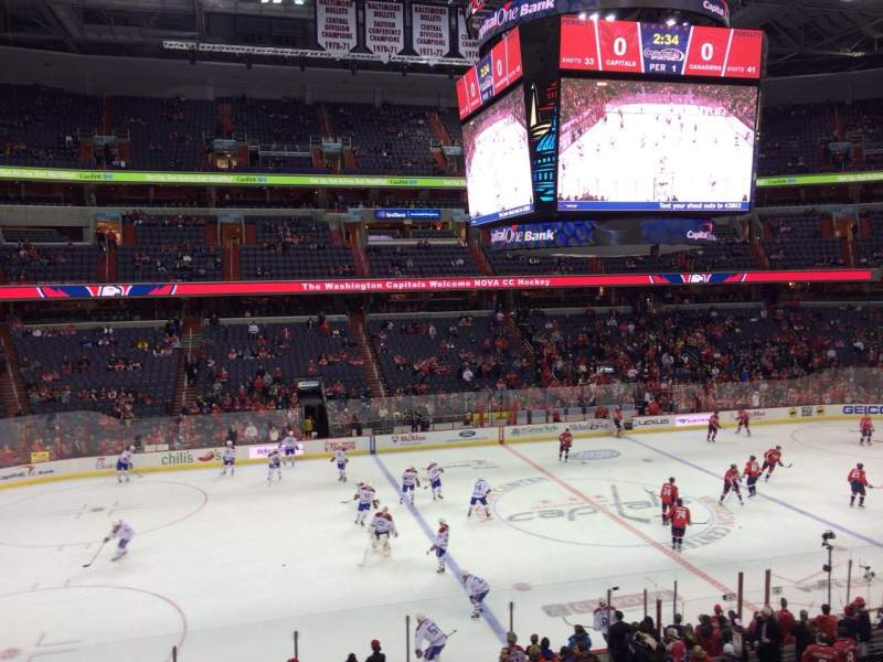 Seating view for Capital One Arena Section 214 Row A Seat 1