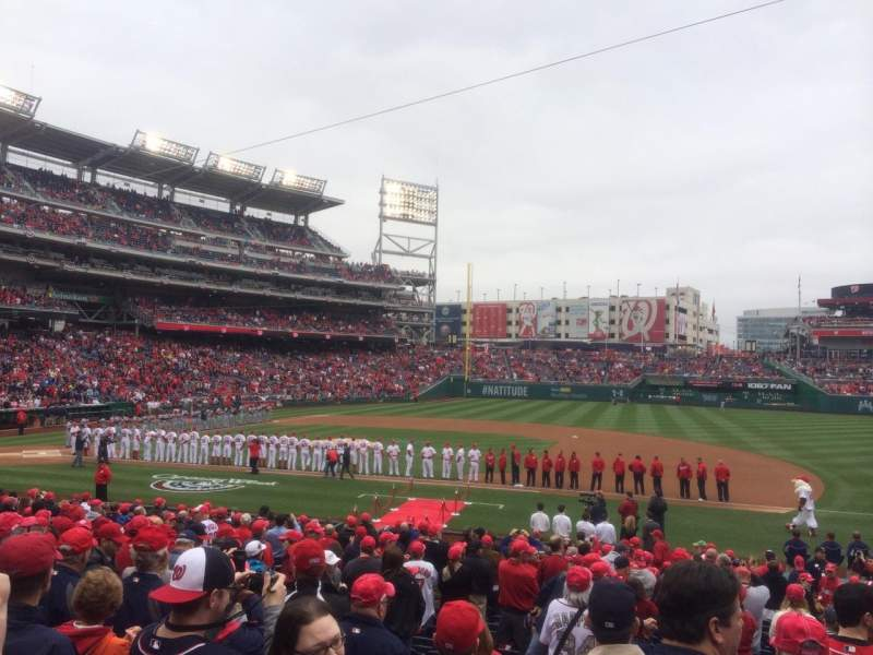 Seating view for Nationals Park Section 130 Row Z Seat 8