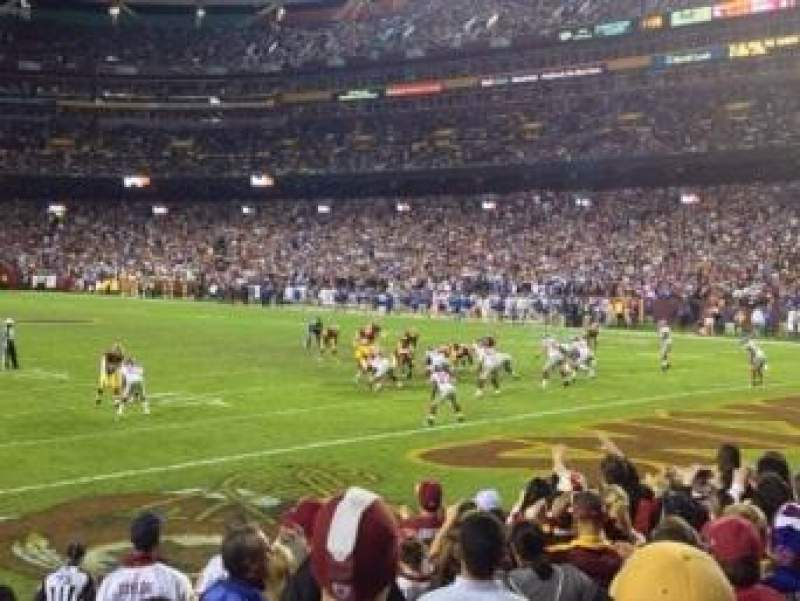 Seating view for FedEx Field Section 135 Row 8 Seat 3