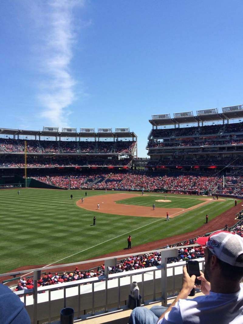 Seating view for Nationals Park Section 202 Row C Seat 5