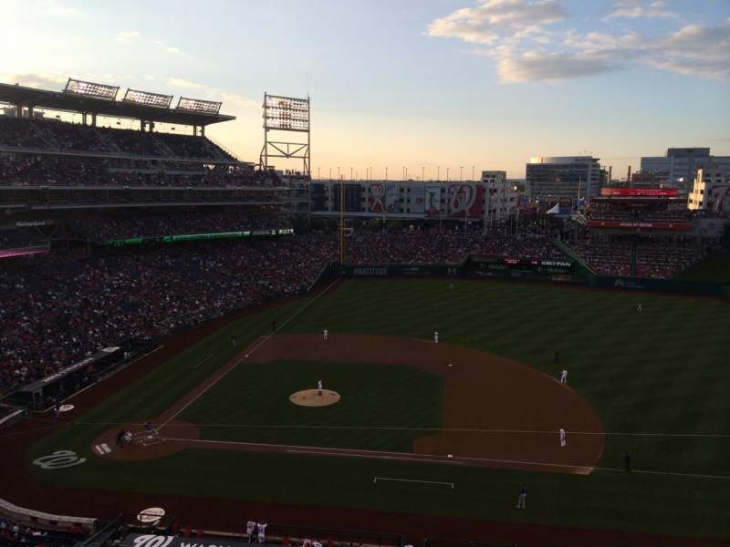 Seating view for Nationals Park Section 319 Row A Seat 9