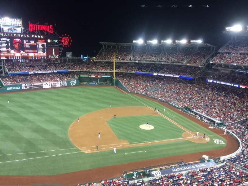 Seating view for Nationals Park Section 406 Row A Seat 9