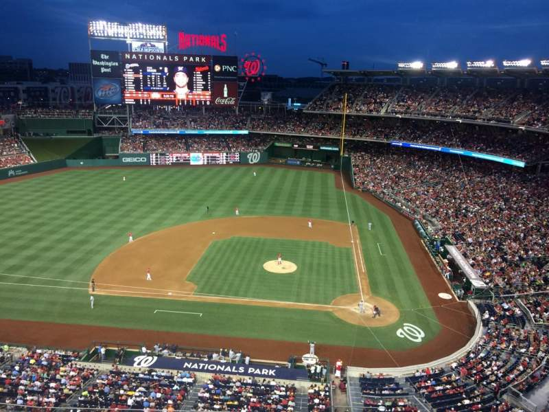Seating view for Nationals Park Section 409 Row A Seat 18