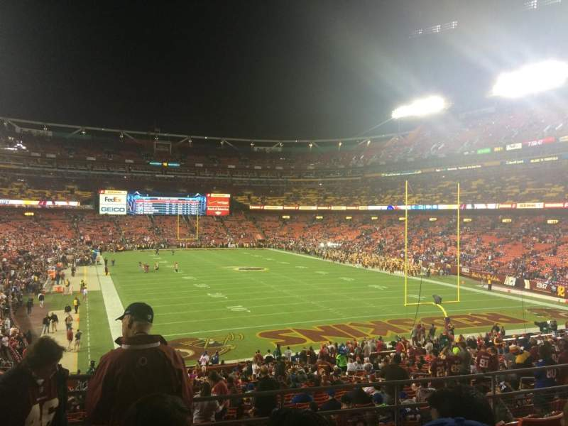 Seating view for FedEx Field Section 234 Row 6 Seat 17