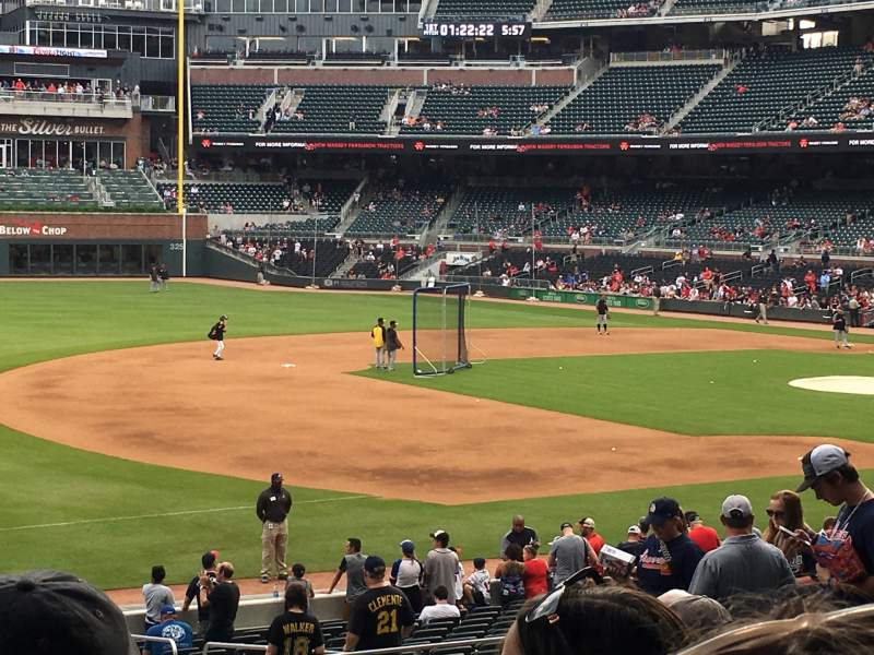 Seating view for Truist Park Section 137 Row 11 Seat 20