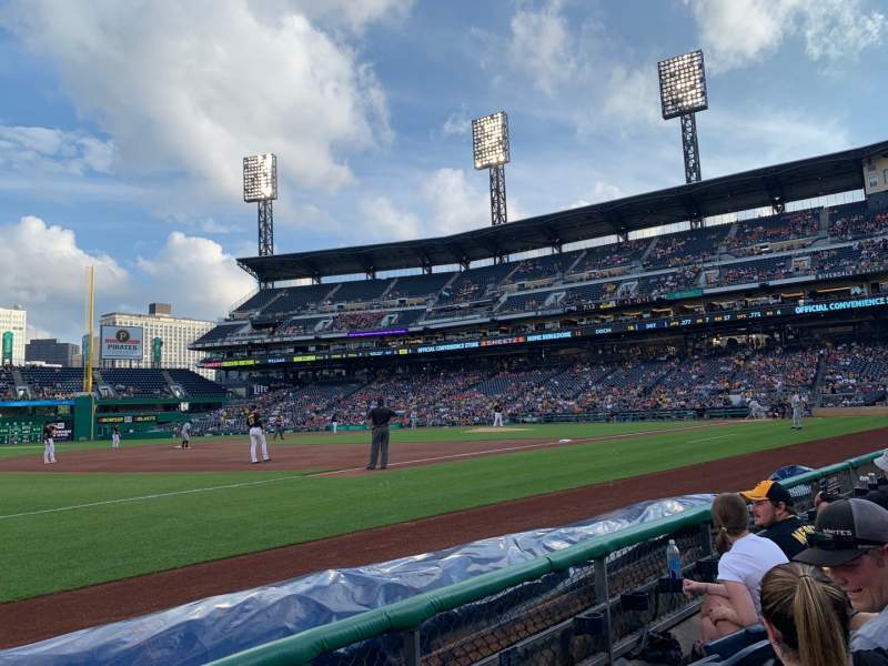 Seating view for PNC Park Section 127 Row C Seat 1