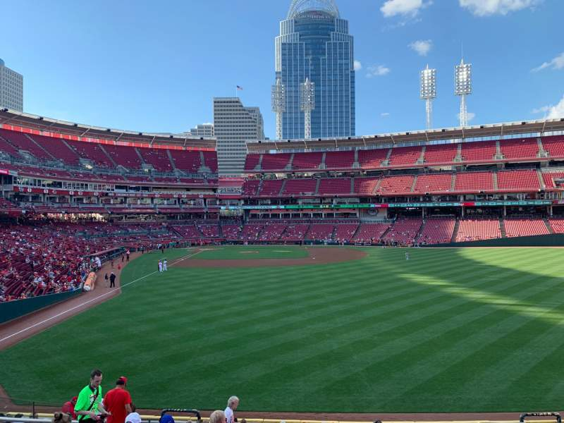 Seating view for Great American Ball Park Section 141 Row Q Seat 16