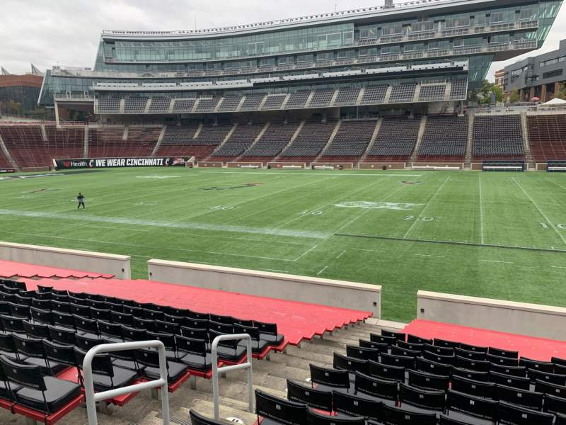 Seating view for Nippert Stadium Section 102 Row 23 Seat 19