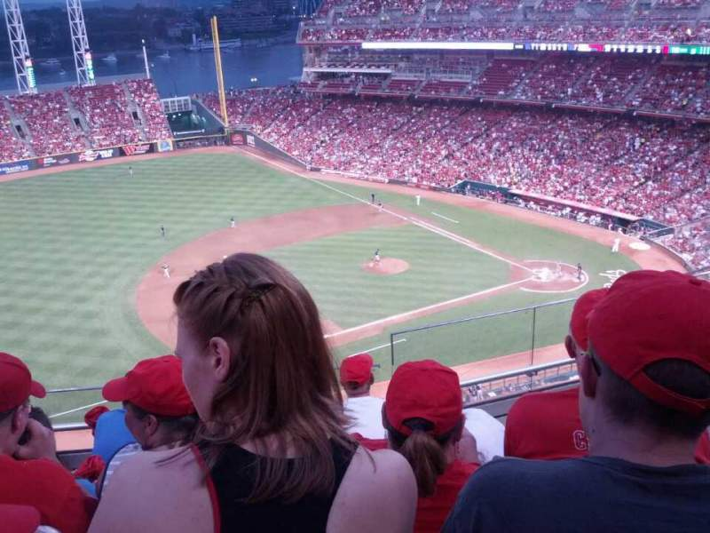 Seating view for Great American Ball Park Section 515 Row E Seat 6