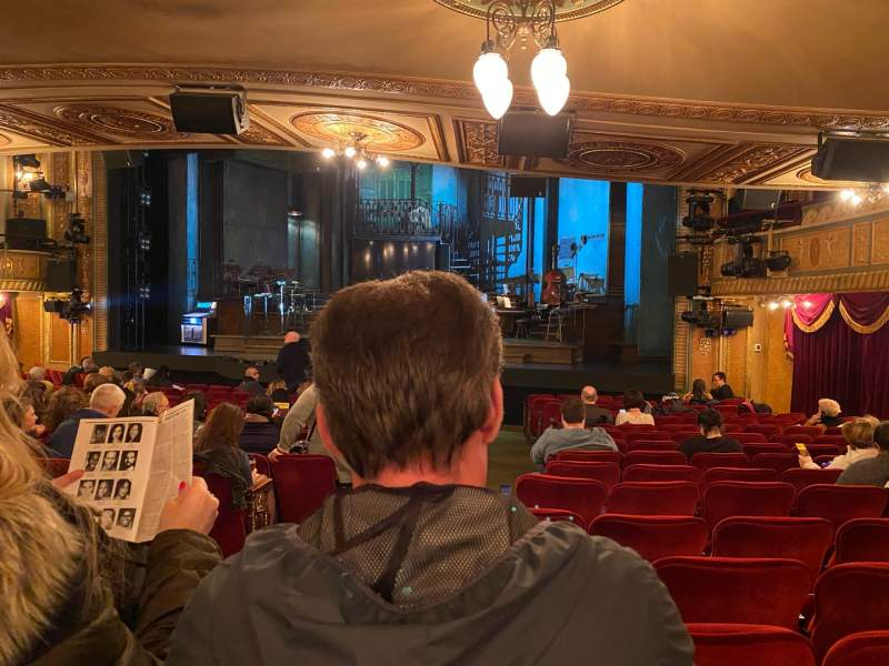 Seating view for Walter Kerr Theatre Section Orchestra R Row S Seat 8